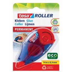 Lijmroller Tesa Roller EcoLogo Permanent 8,4mmx14m navulbaar