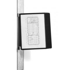 Zichtpanelensysteem Durable Vario Magnet Wall 10 A4 zwart