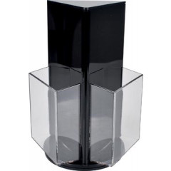 Folderhouder Deflecto roterend met 3 compartimenten 1/3 A4