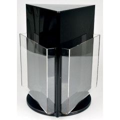 Folderhouder Deflecto roterend met 3 compartimenten A4