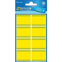 Etiket Avery Z-design Home 36x28mm voor diepvries geel (40)