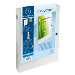 Elastobox Exacompta Kreacover Chromaline PP A4 40mm transparant