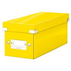 Opbergdoos Leitz Click&Store WOW PP voor CD's geel metallic (6041016)