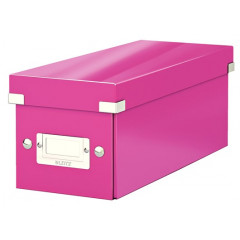 Opbergdoos CD Leitz click & store WOW roze (6041023)