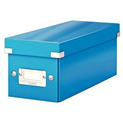 Opbergdoos Leitz Click&Store WOW PP voor CD's blauw metallic (6041036)