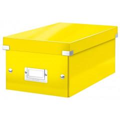Opbergdoos Leitz Click&Store WOW PP voor DVD's geel metallic (604216)
