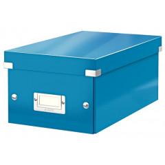 Opbergdoos Leitz Click&Store WOW PP voor DVD's blauw metallic