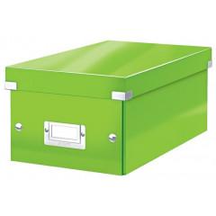 Opbergdoos Leitz Click&Store WOW PP voor DVD's groen metallic (604254)
