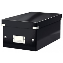 Opbergdoos Leitz Click&Store WOW PP voor DVD's zwart metallic (604295)