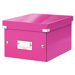 Opbergdoos Leitz click & store WOW A5 small roze (604323)