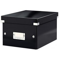 Opbergdoos Leitz Click&Store WOW PP A5 zwart metallic (604395)