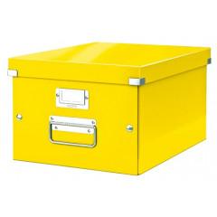 Opbergdoos Leitz Click&Store WOW PP A4 geel metallic (6044016)
