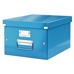Opbergdoos Leitz Click&Store WOW PP A4 blauw metallic (604436)