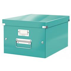 Opbergdoos Leitz Click&Store WOW PP A4 ijsblauw metallic (6044051)