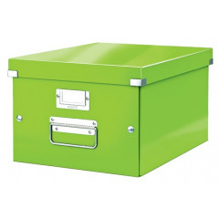 Opbergdoos Leitz Click&Store WOW PP A4 groen metallic (6044054)