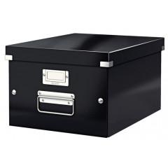 Opbergdoos Leitz Click&Store WOW PP A4 zwart metallic (604495)