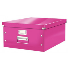 Opbergdoos Leitz Click&Store WOW PP A3 roze metallic