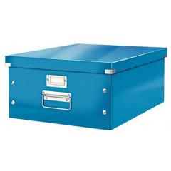 Opbergdoos Leitz Click&Store WOW PP A3 blauw metallic