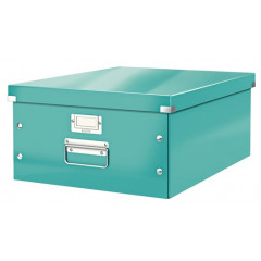 Opbergdoos Leitz Click&Store WOW PP A3 ijsblauw metallic