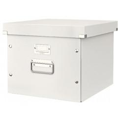 Opbergdoos Leitz Click&Store WOW PP voor hangmappen wit metallic (604601)