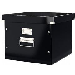 Opbergdoos Leitz Click&Store WOW PP voor hangmappen zwart metallic (604695)