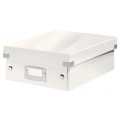 Opbergdoos Leitz Click&Store WOW PP A5 met sorteervakken wit metallic