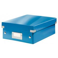 Opbergdoos Leitz Click&Store WOW PP A5 met sorteervakken blauw metallic