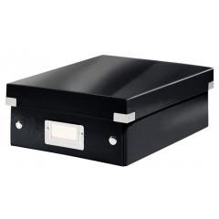 Opbergdoos Leitz Click&Store WOW PP A5 met sorteervakken zwart metallic