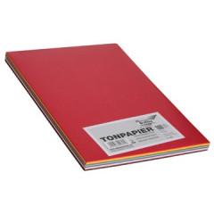 Tekenpapier blok Folia A4 120gr assorti 100 vel