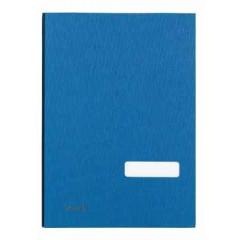 Handtekenmap Classex linnen grijze vloei 20-vaks blauw