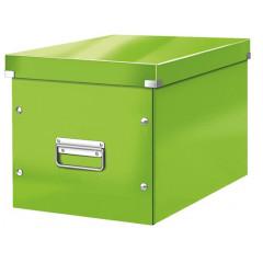 Opbergdoos Leitz Click&Store WOW Cube PP groot groen metallic (6108054)