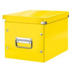 Opbergdoos Leitz Click&Store WOW Cube PP middelgroot geel metallic (6109016)