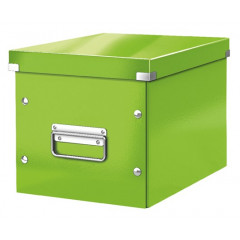 Opbergdoos Leitz Click&Store WOW Cube PP middelgroot groen metallic (6109054)