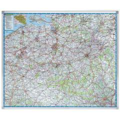 Landkaart Legamaster Professional België 101x121cm