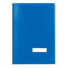 Handtekenmap Classex plastic grijze vloei 20-vaks blauw