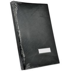 Handtekenmap Classex plastic grijze vloei 20-vaks zwart