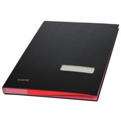 Handtekenmap Classex plastic rode vloei 20-vaks zwart