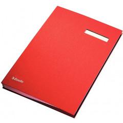 Handtekenmap Esselte grijze vloei 20-vaks rood