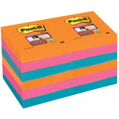 Memoblok Post-it Super Sticky Bangkok 51x51mm assorti (12)