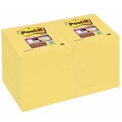 Memoblok Post-it Super Sticky 47,6x47,6mm geel (12)