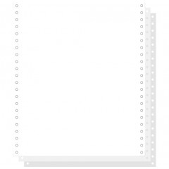 """Blanco ft.11""""x240 3-voud 56gr afscheurbare pinfeed ncr wit (1000)"""