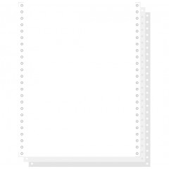 """Blanco ft.12""""x240 3-voud 56gr afscheurbare pinfeed ncr wit (1000)"""