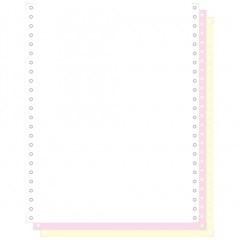 """Blanco ft.12""""x240 4-voud 56gr afscheurbare pinfeed ncr wit-geel-roze-groen (500)"""