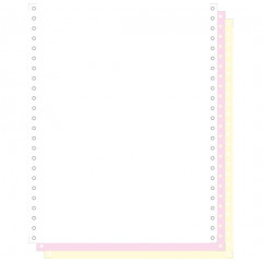 """Blanco ft.12""""x240 3-voud 70gr afscheurbare pinfeed ncr wit-geel-roze (1000)"""
