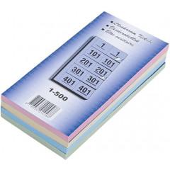 Garderobeblokken 12x20cm 5 dubbele nummers per blad 1-500 assorti (4)