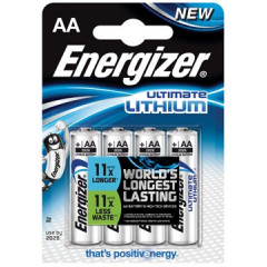 Batterij Energizer Ultimate Lithium AA 1,5V (4)