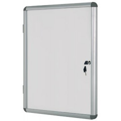 Vitrine Bisilque Bi-Office Earth-it voor 9 x A4 aluminium
