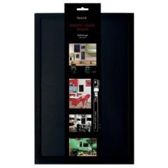 Securit krijtbord Woody ft 40x60 cm, zwart