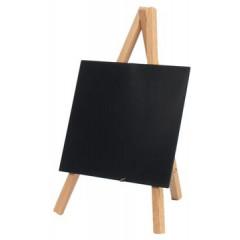 Securit tafelkrijtbord mini driepoot, ft 24x15 cm, teak