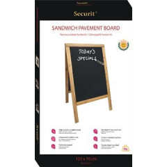 Securit Stoepbord Sandwich ft 70x125 cm, Teak